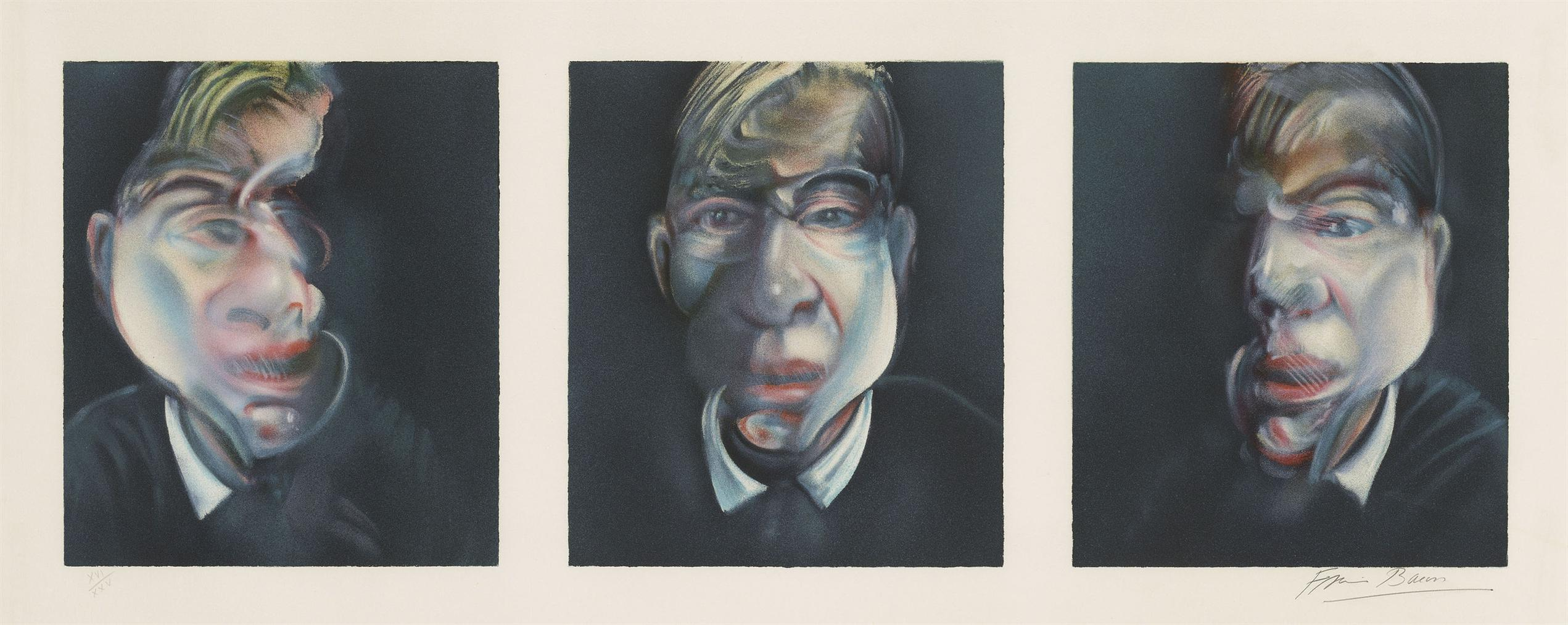 Francis Bacon-Three Studies For A Self-Portrait-1981
