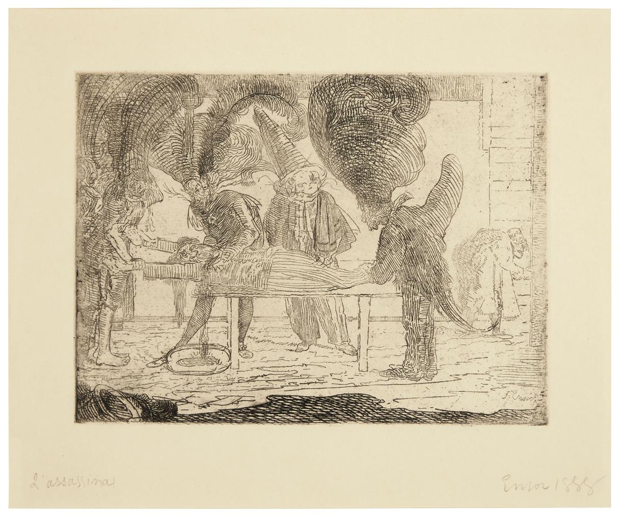 James Ensor-Lassassinat (The Assassination)-1888