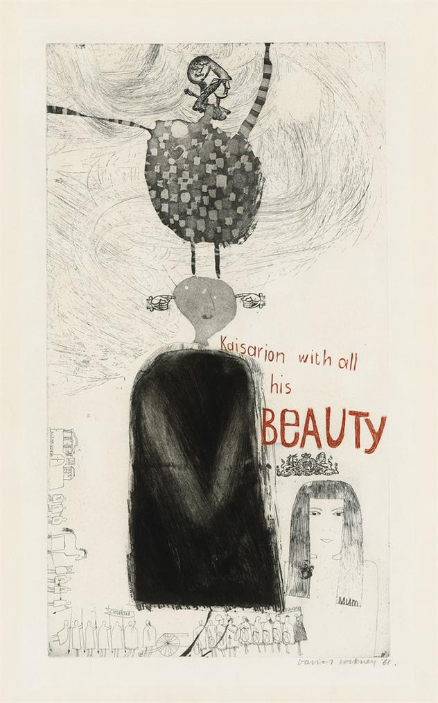 David Hockney-Kaisarion With All His Beauty-1961