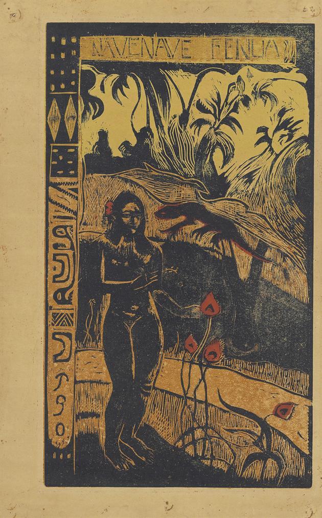 Paul Gauguin-Nave Nave Fenua (Delightful Land), From: Noa Noa-1894