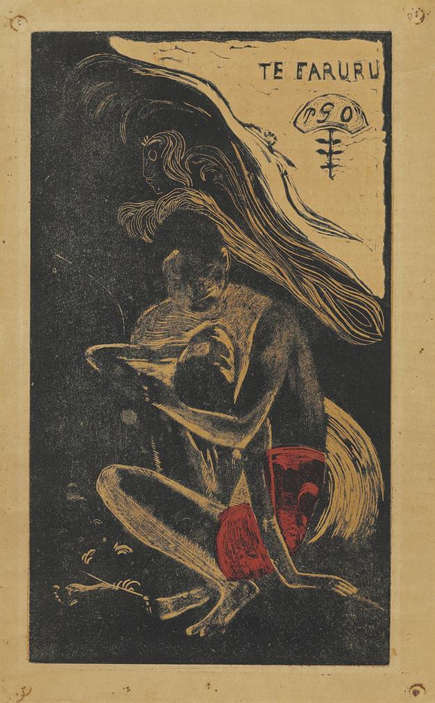 Paul Gauguin-Te Faruru (Here We Make Love), From: Noa Noa-1894