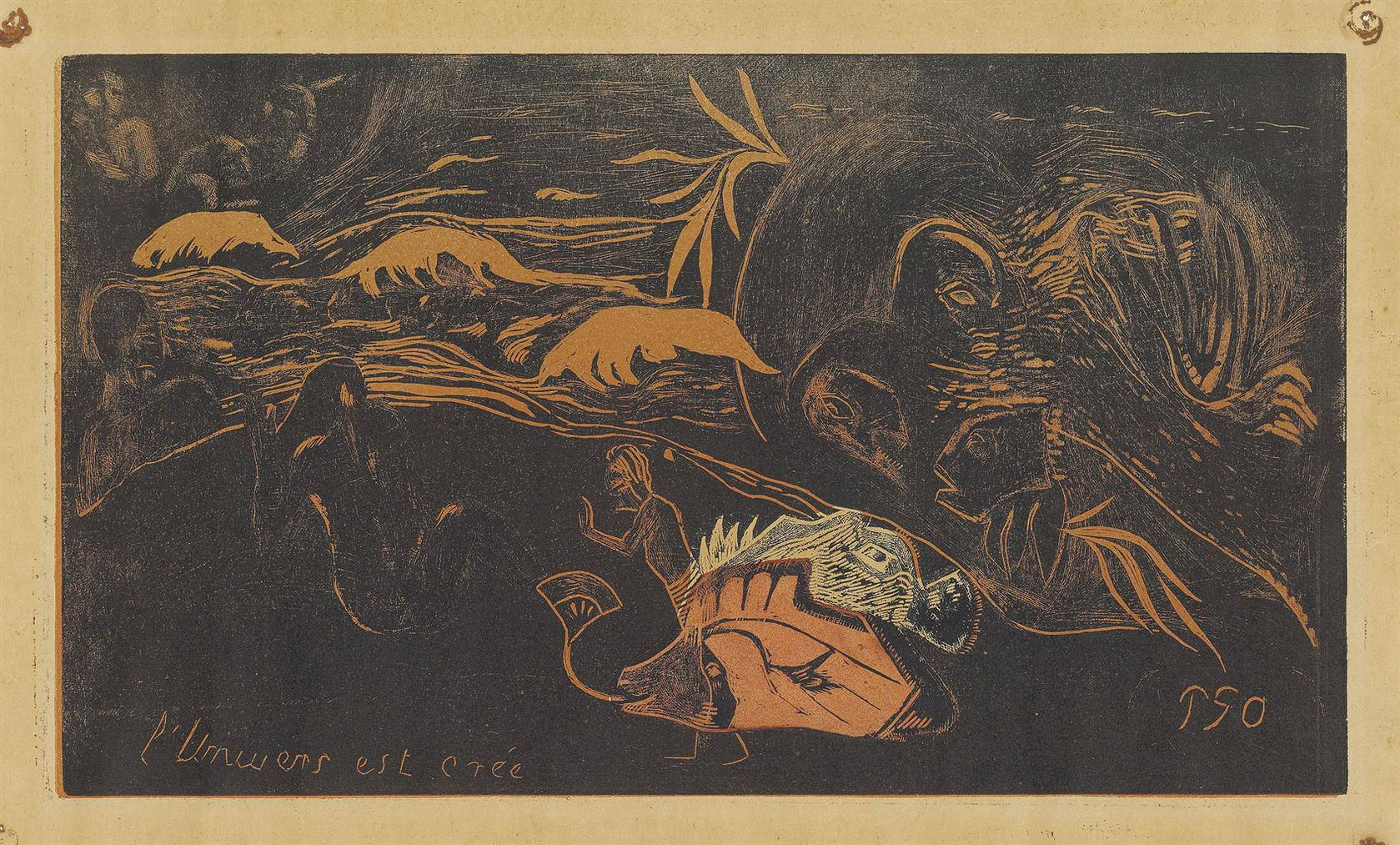 Paul Gauguin-Lunivers Est Cree (The Creation Of The Universe), From: Noa Noa-1894