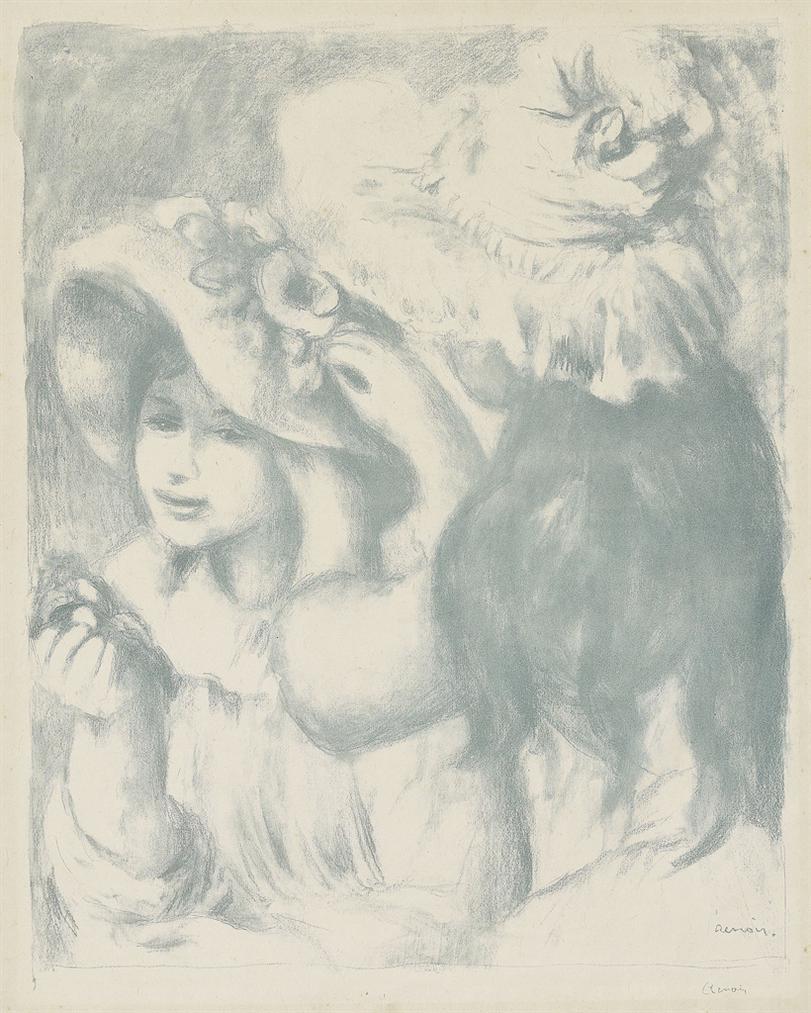 Pierre-Auguste Renoir-Le Chapeau Epingle (2Eme Planche)-1898