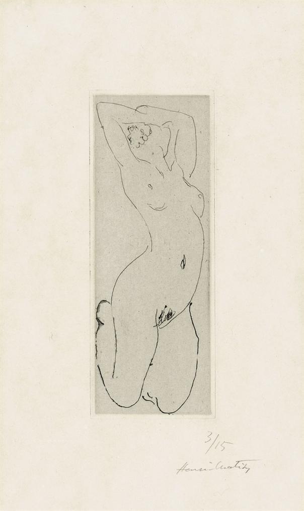 Henri Matisse-Nu Agenouille Et Cambre-1918