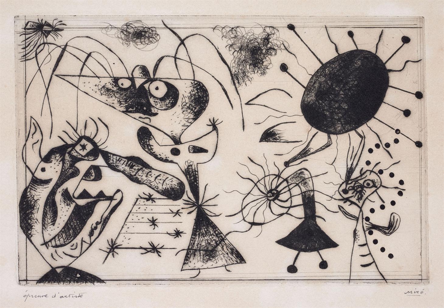 Joan Miro-Serie Noire & Rouge: One Plate-1938