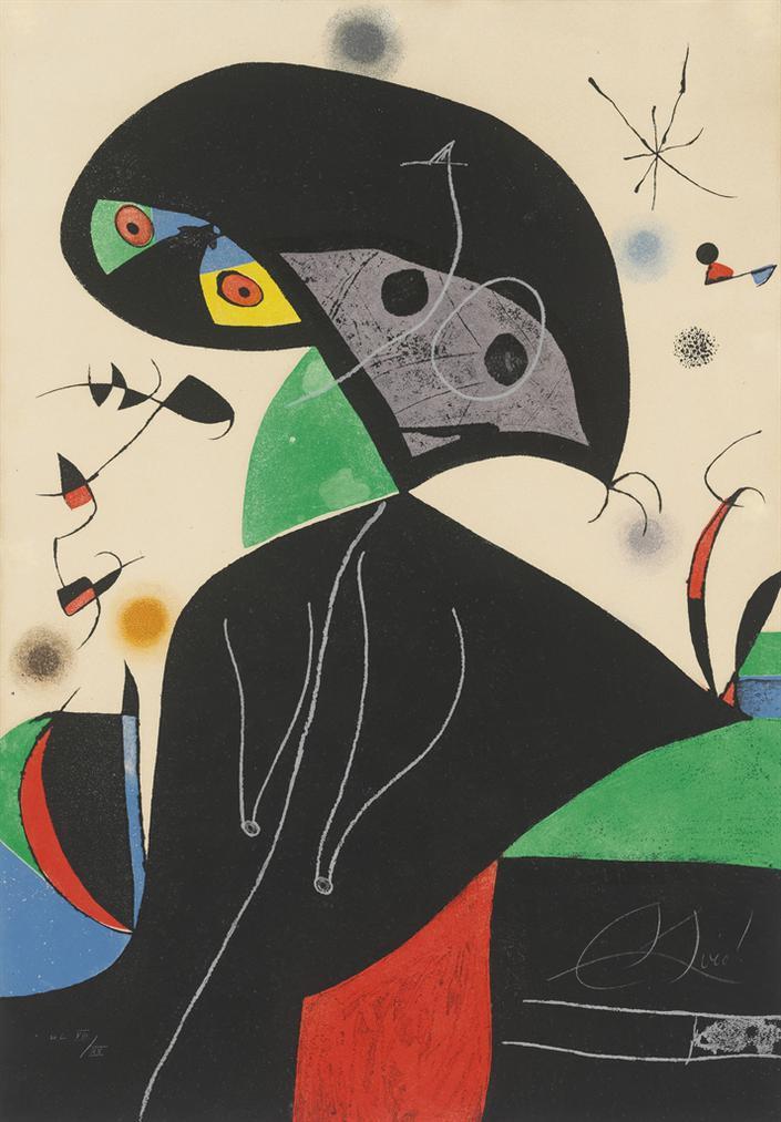 Joan Miro-Gaudi XVIII-1979