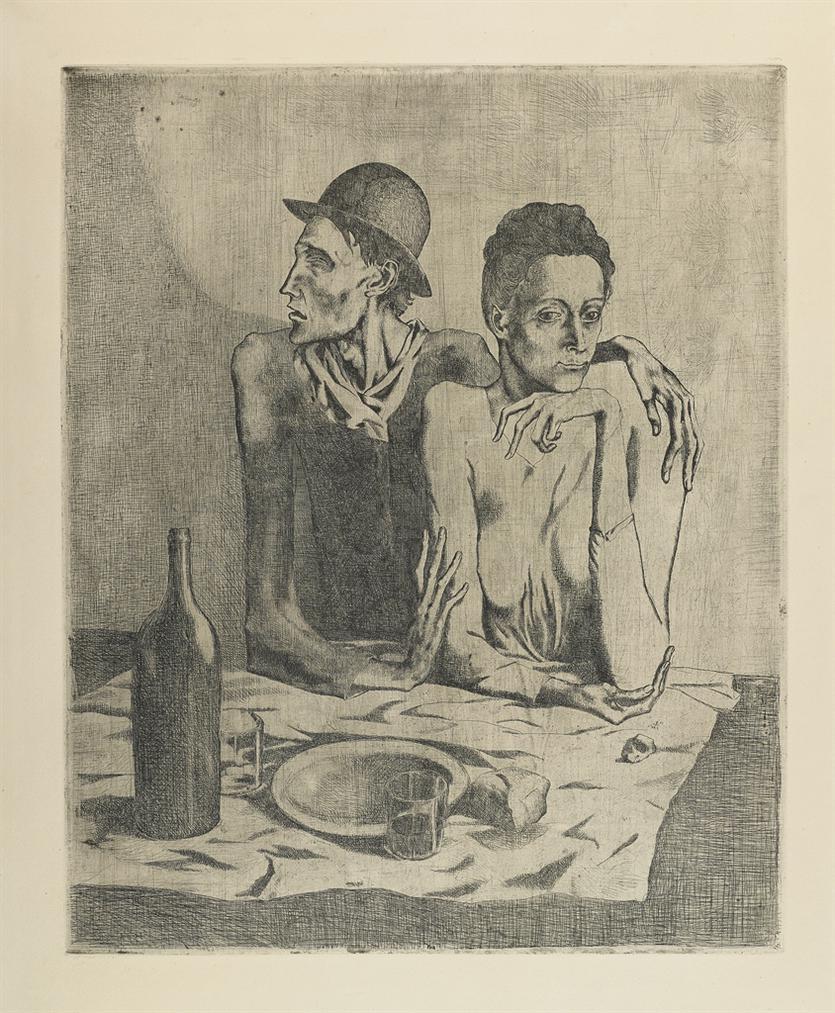 Pablo Picasso-Le Repas Frugal-1904