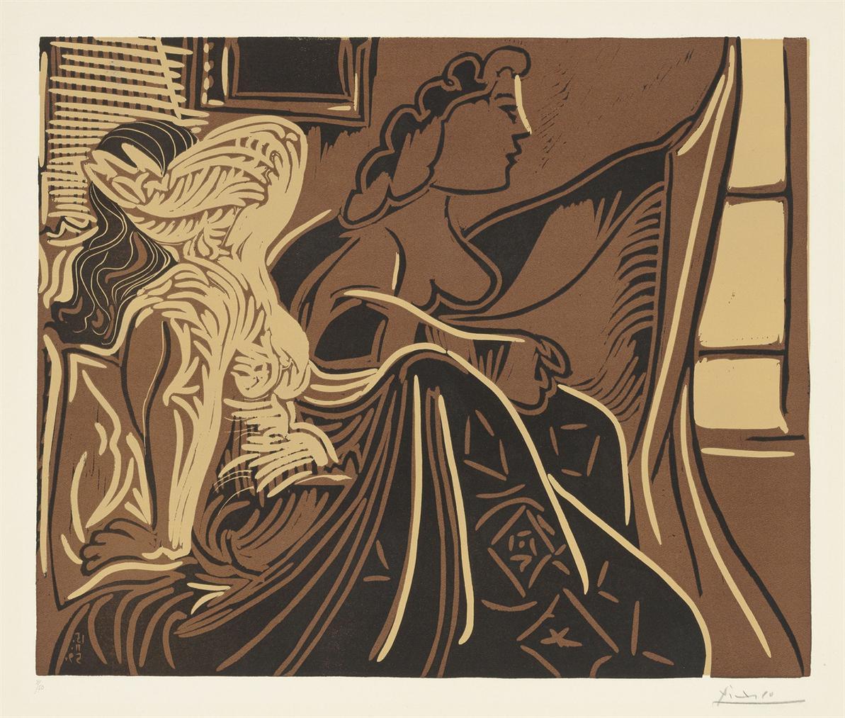 Pablo Picasso-Deux Femmes Pres De La Fenetre-1959