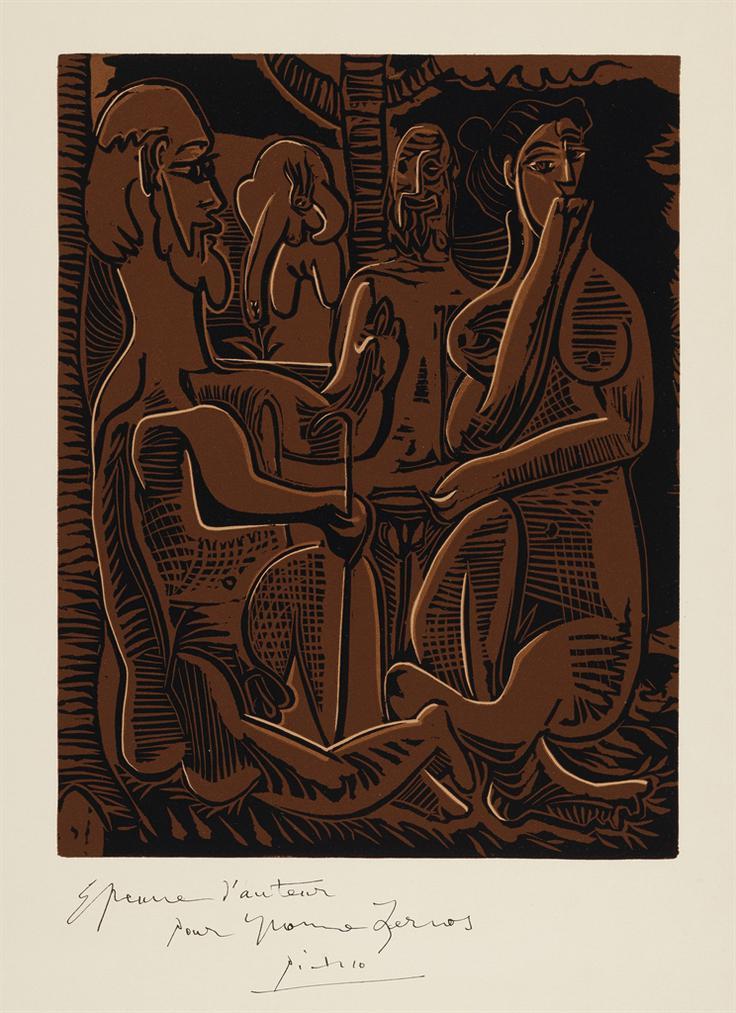 Pablo Picasso-Petit Dejeuner Sur Lherbe, Dapres Manet-1962