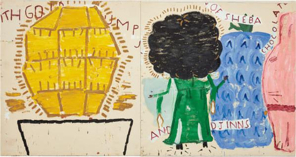Rose Wylie - Queen Of Sheba With Gold Lump-2012