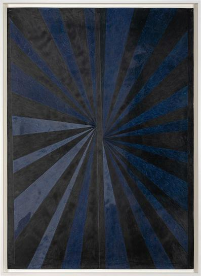 Mark Grotjahn-Untitled Pgd32 (Black And Blue Butterfly #689 Melted)-2005