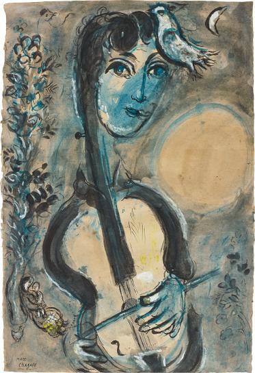 Marc Chagall-Le Violoncelliste-1964