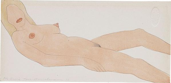 Tom Wesselmann-Study For Nude Collage Edition-1970