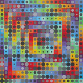 Victor Vasarely-Orion Gris-1992