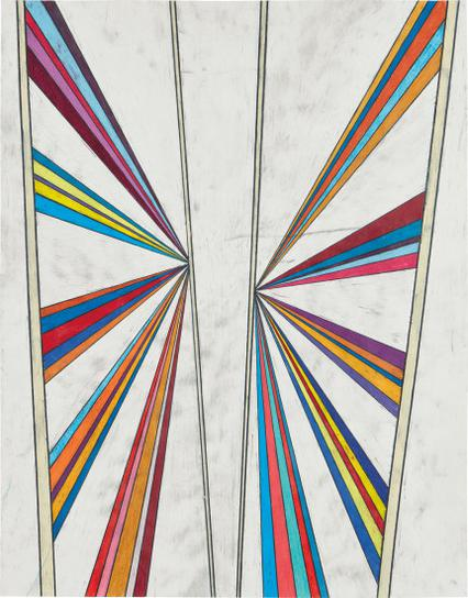 Mark Grotjahn-Untitled (Butterfly Five Color Ray)-2003