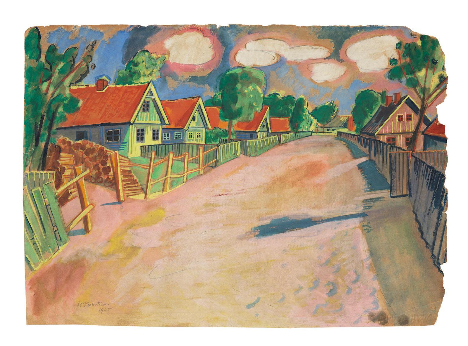 Max Pechstein-Dorfstrasse-1920