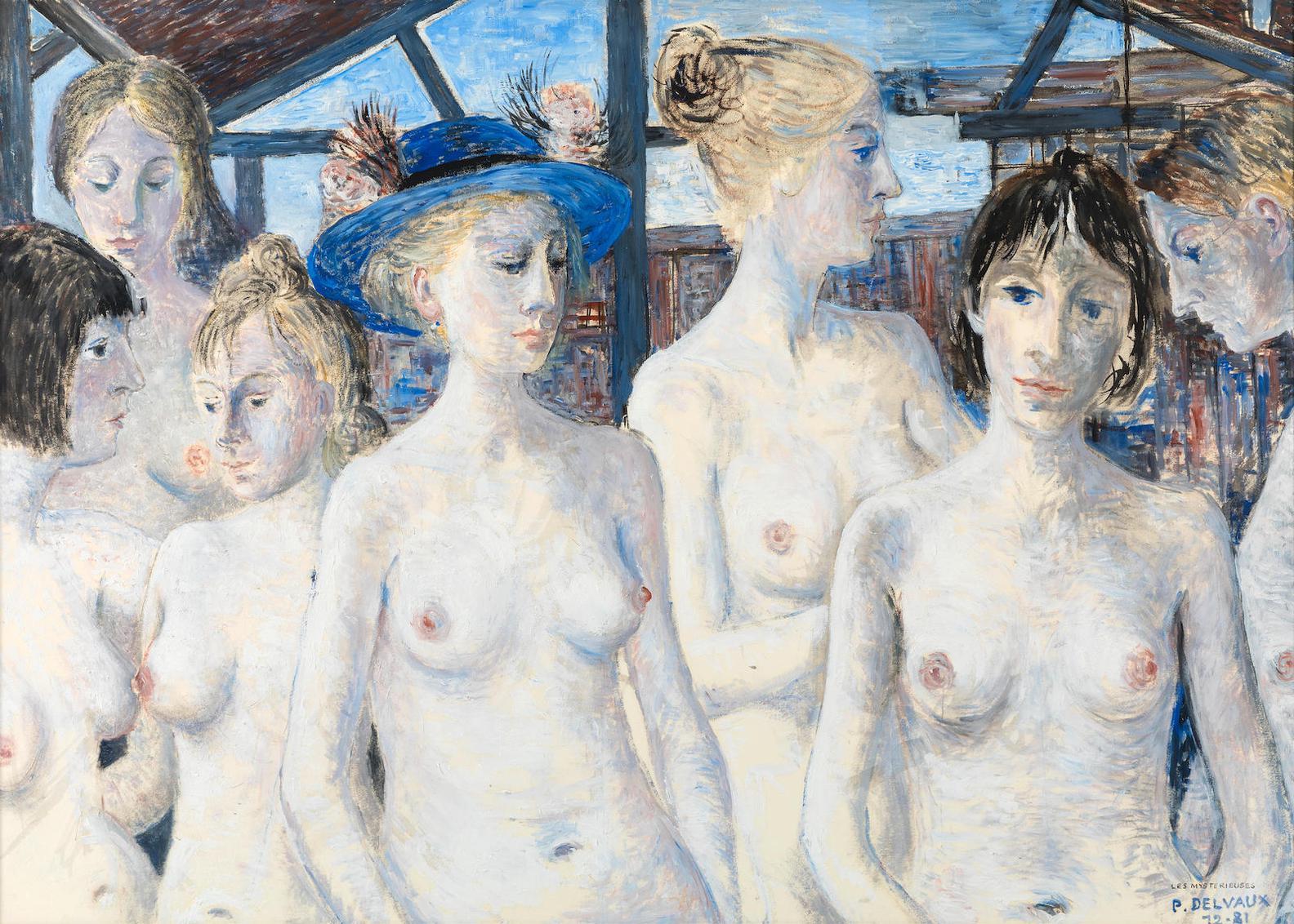 Paul Delvaux-Les Mysterieuses-1981