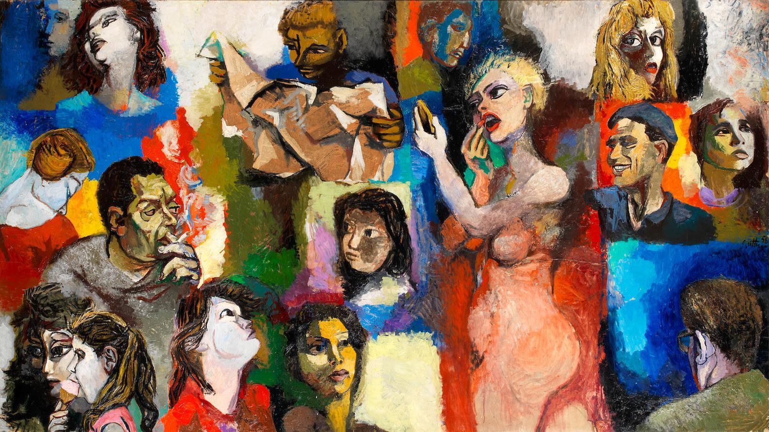 Renato Guttuso-Mosaico Di Figure-1958
