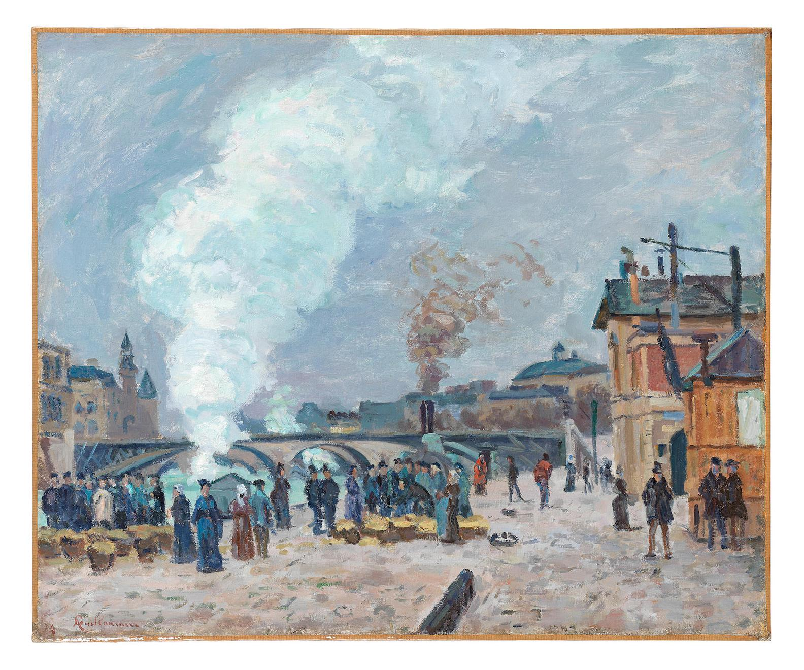 Jean-Baptiste Armand Guillaumin-Les Quais De Gesvres A Paris-1874