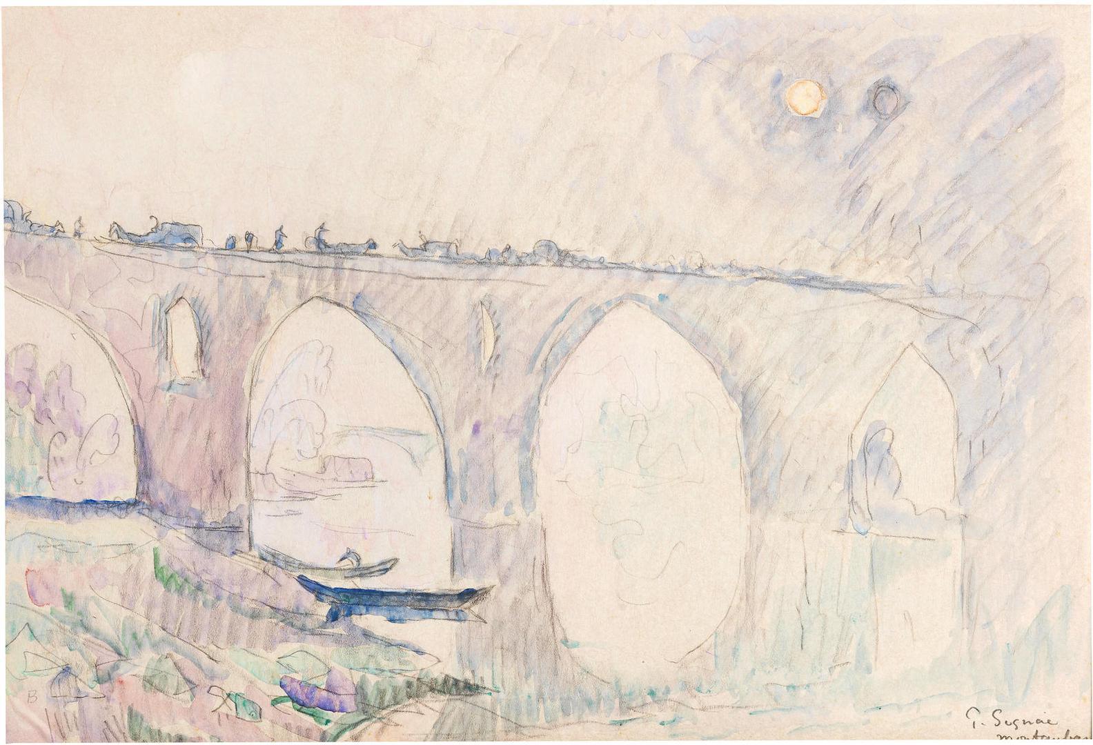 Paul Signac-Montauban, Le Pont Vieux-1922