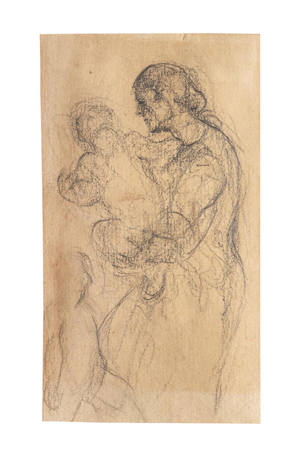 Honore Daumier-Mere Et Enfant-