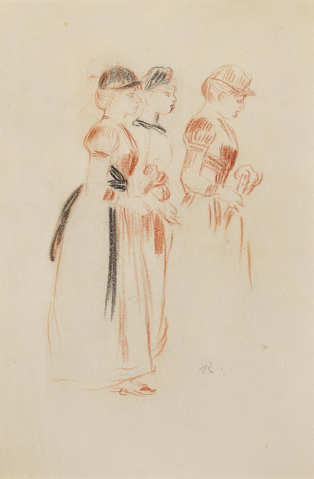 Pierre-Auguste Renoir-Etude Pour La Promenade-1890