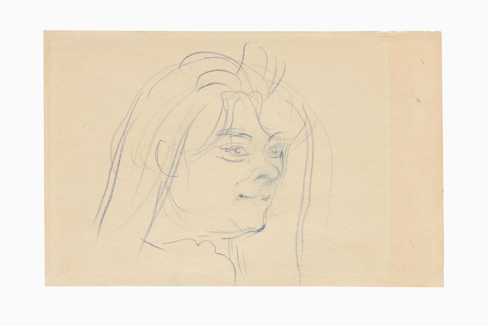 Henri de Toulouse-Lautrec-Tete De Femme De Maison-1895