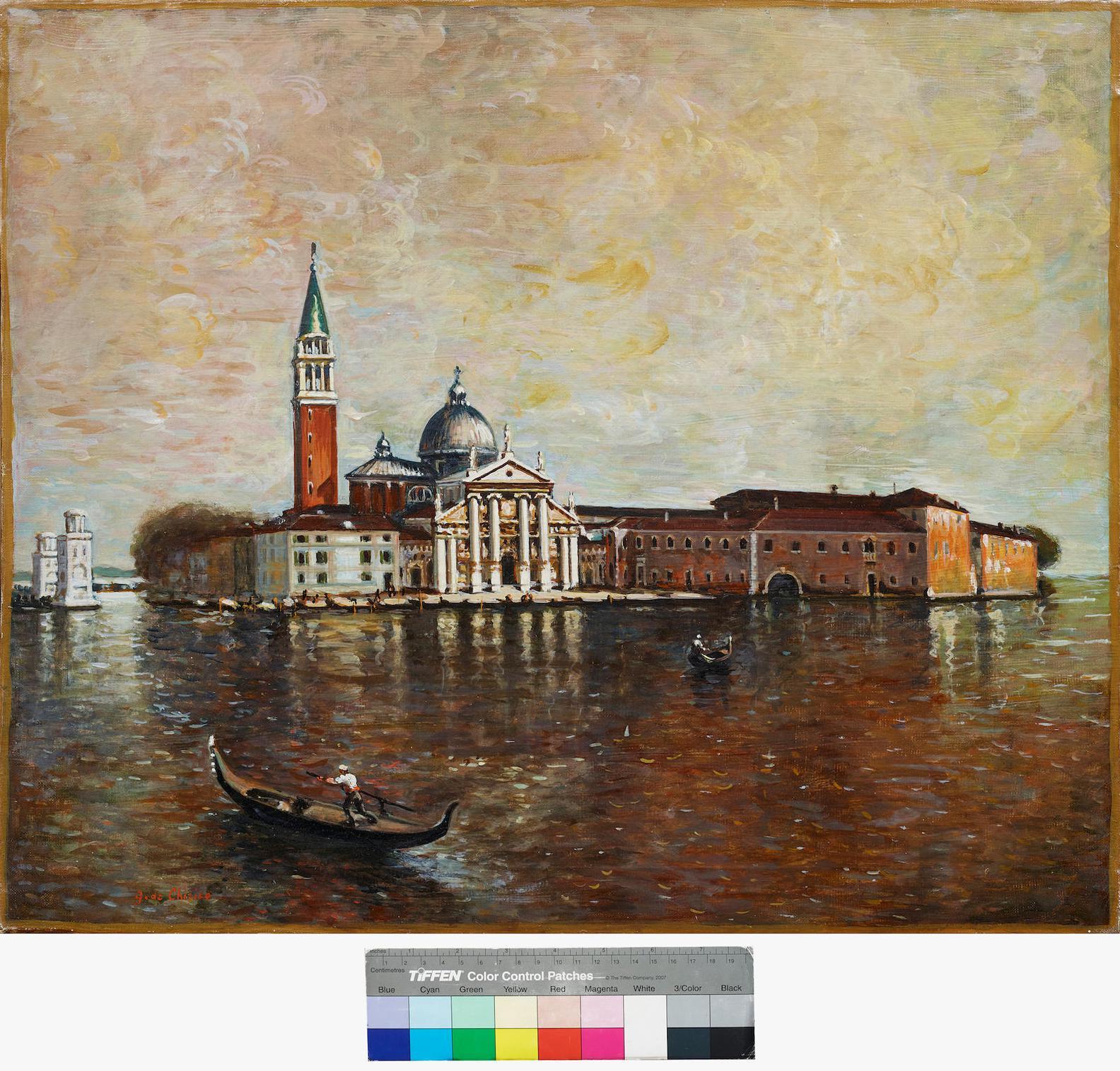 Giorgio de Chirico-Venezia, Isola Di San Giorgio-1959