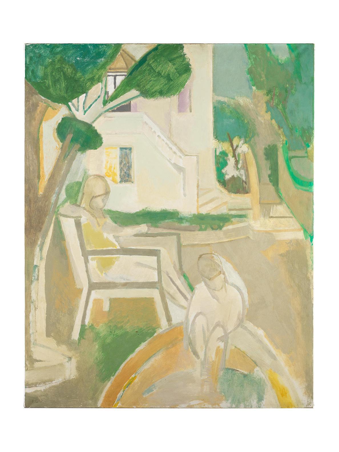 Francoise Gilot-Figures Dans Le Jardin-1959