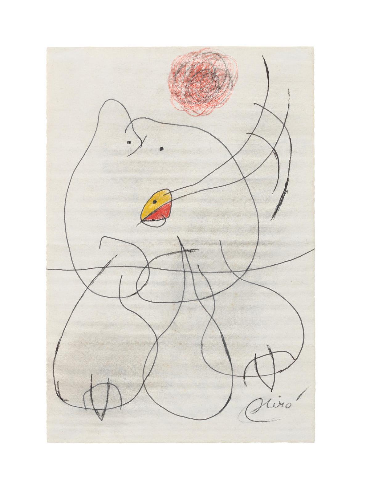 Joan Miro-Femme, Oiseau-1977