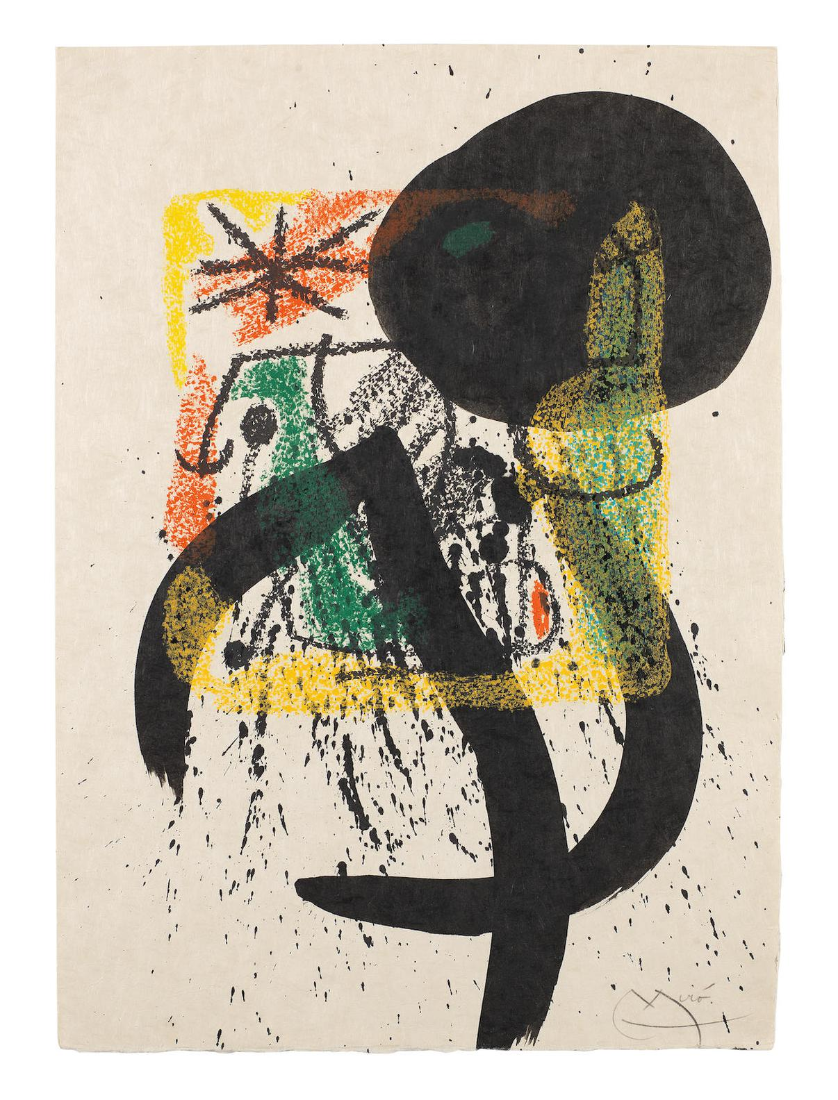 Joan Miro-Sans Titre-1968