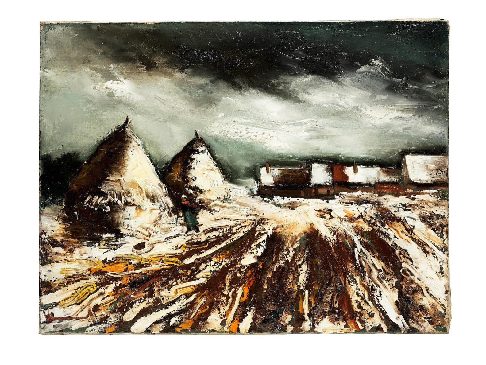Maurice de Vlaminck-Meules En Hiver-1938