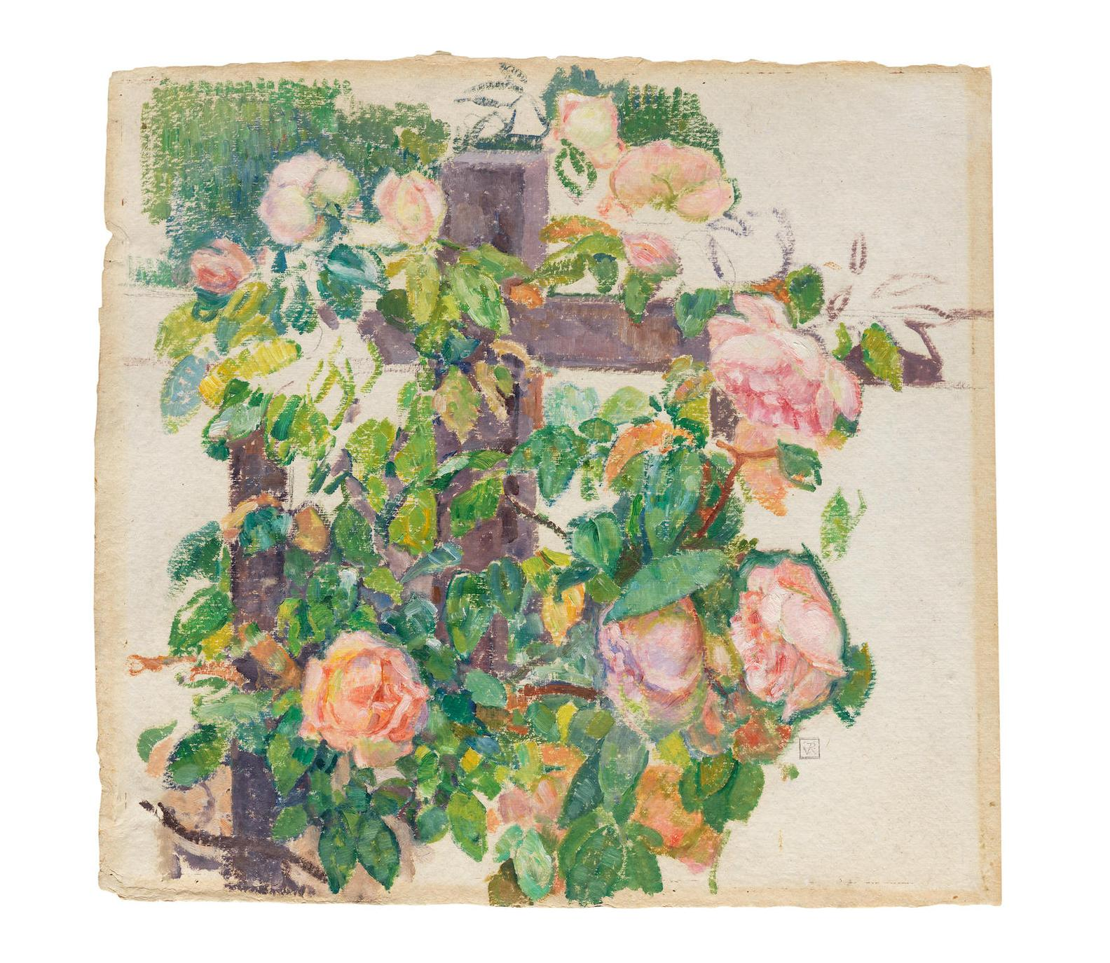 Theo van Rysselberghe-Roses Grimpantes-1920