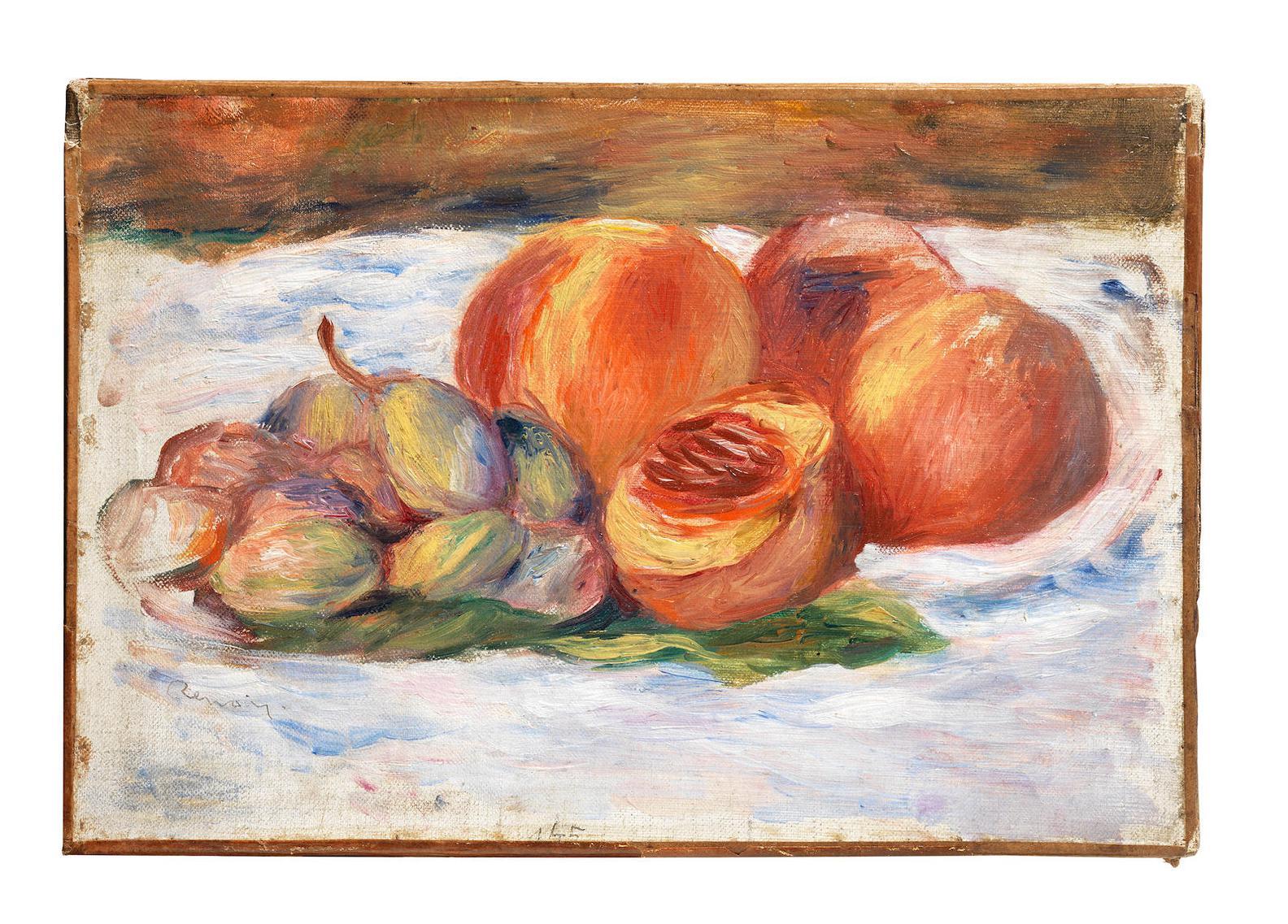 Pierre-Auguste Renoir-Nature Morte Aux Peches-1905