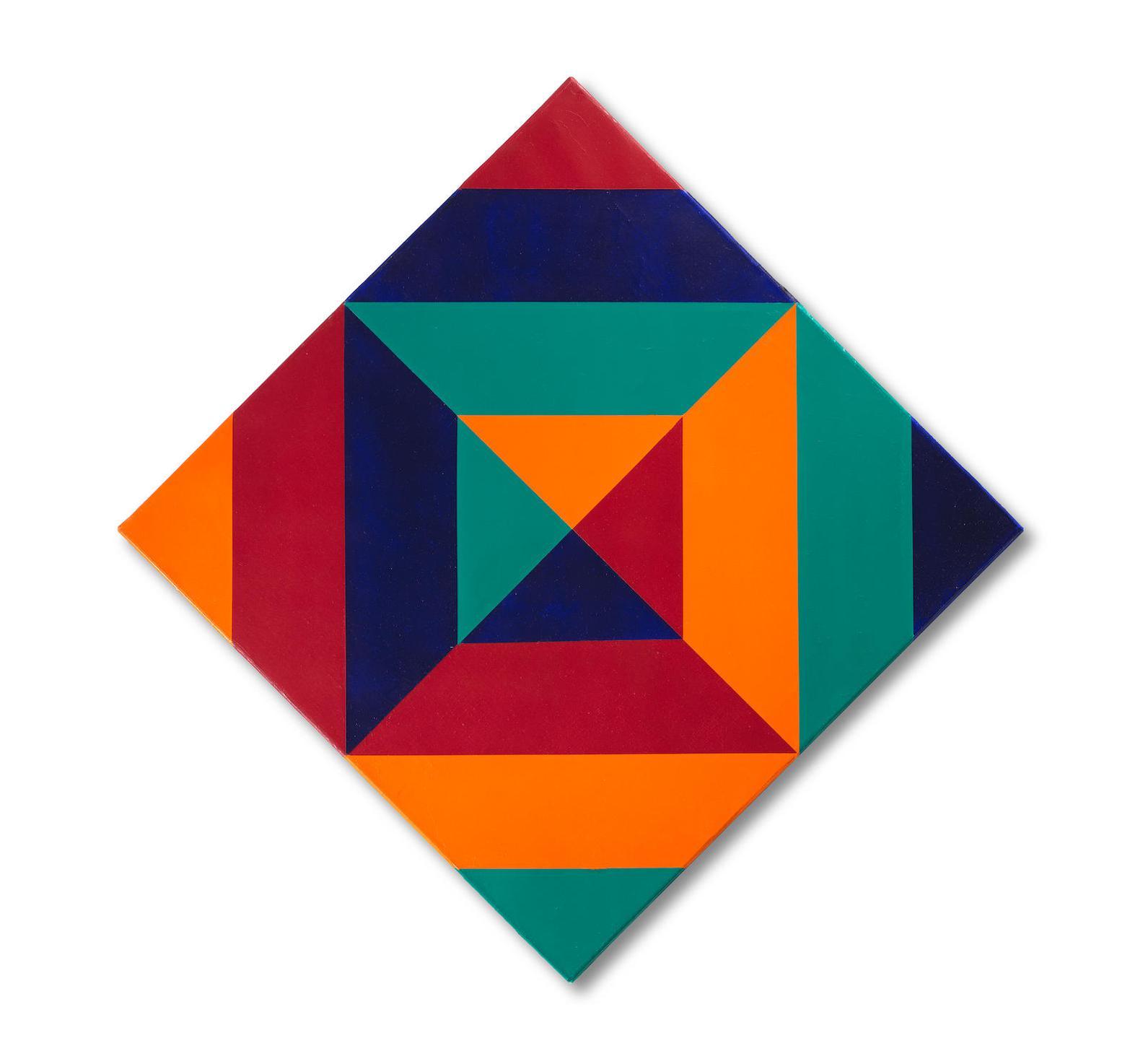 Max Bill-Rotation Von Vier Farben-1972