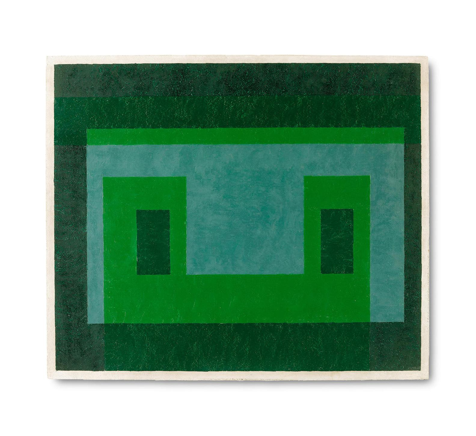 Josef Albers-Contented Green-1955
