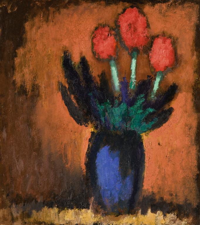 Josef Herman-Tulips-1994