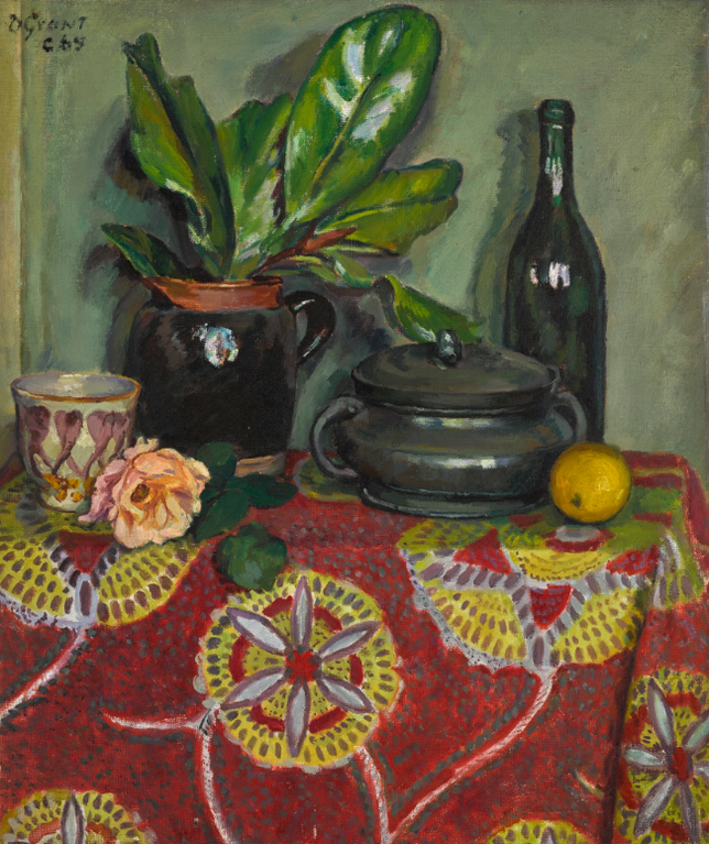 Duncan Grant-Table-Top Still Life With Bottle, Pot And Plant-1965