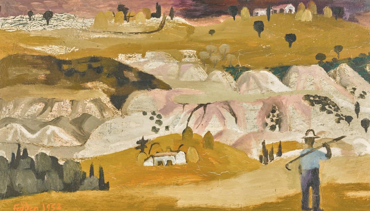 Mary Fedden-Tuscan Landscape II-1952