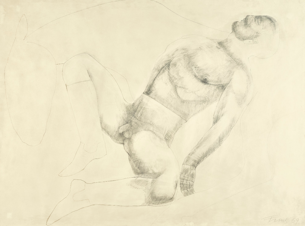 Elisabeth Frink-Untitled (Male Nude With Horse)-1969