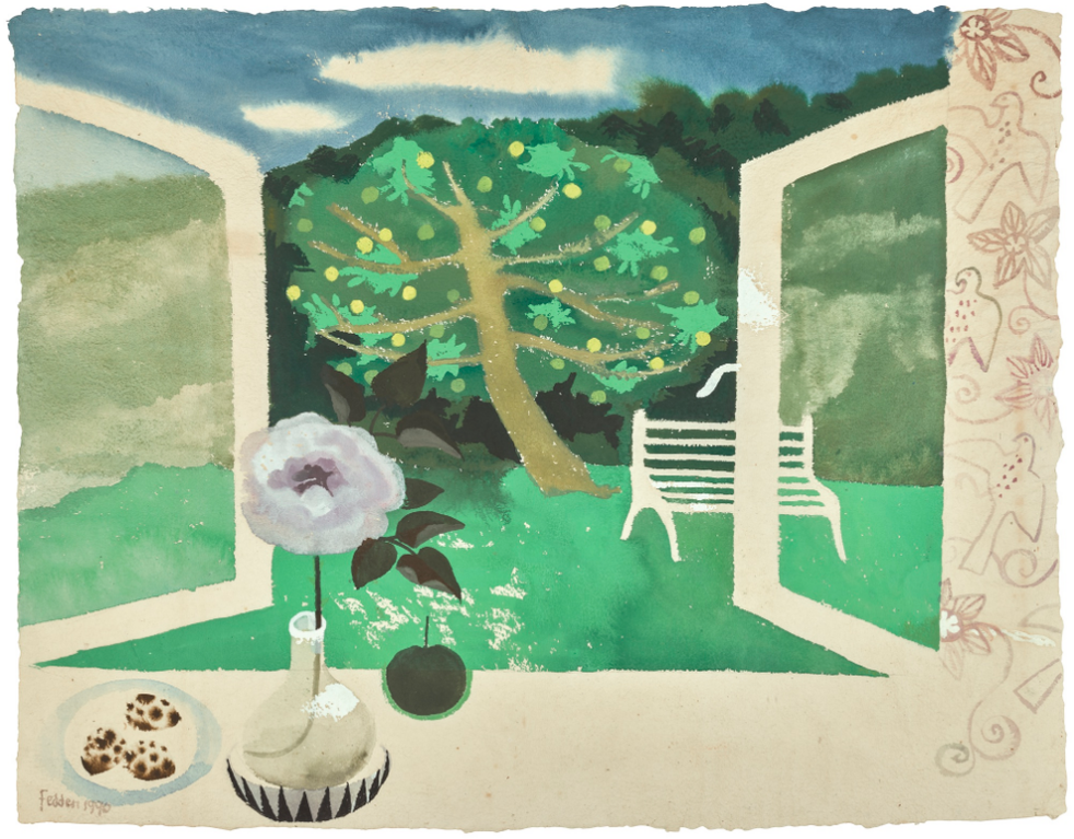 Mary Fedden-Landscape-1990