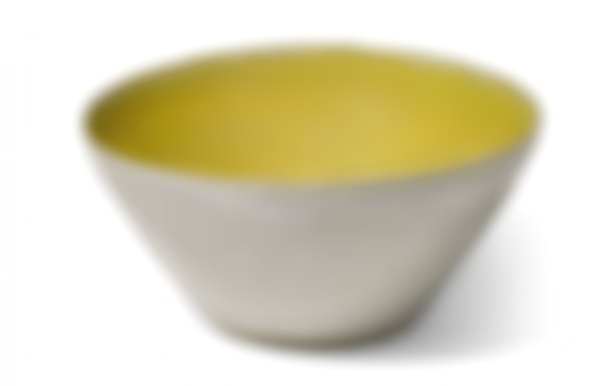 Dame Lucie Rie - Small Bowl With Yellow Interior-1980
