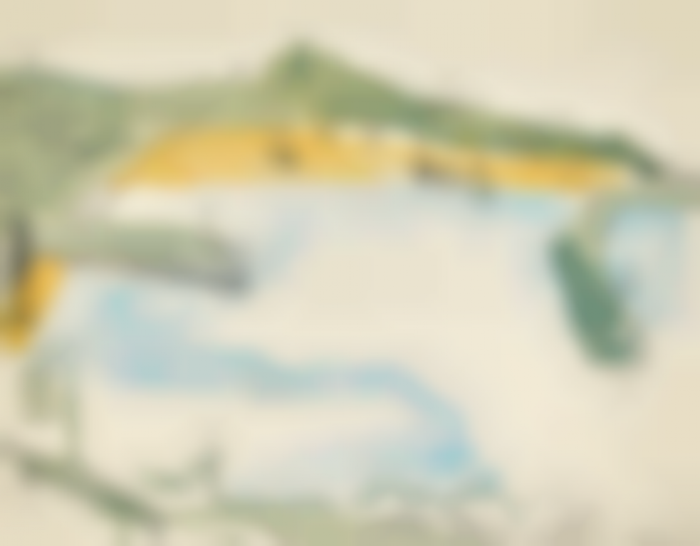 Wilhelmina Barns-Graham-View Of St Ives Harbour-1940