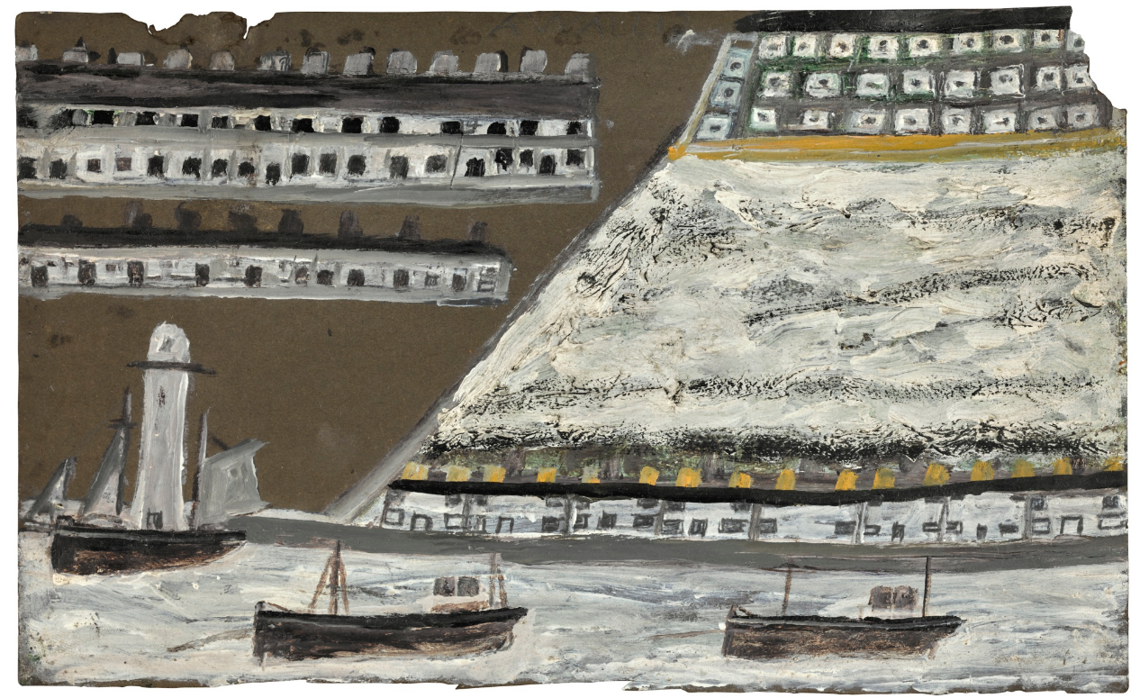 Alfred Wallis-Ships And Lighthouse, Houses-