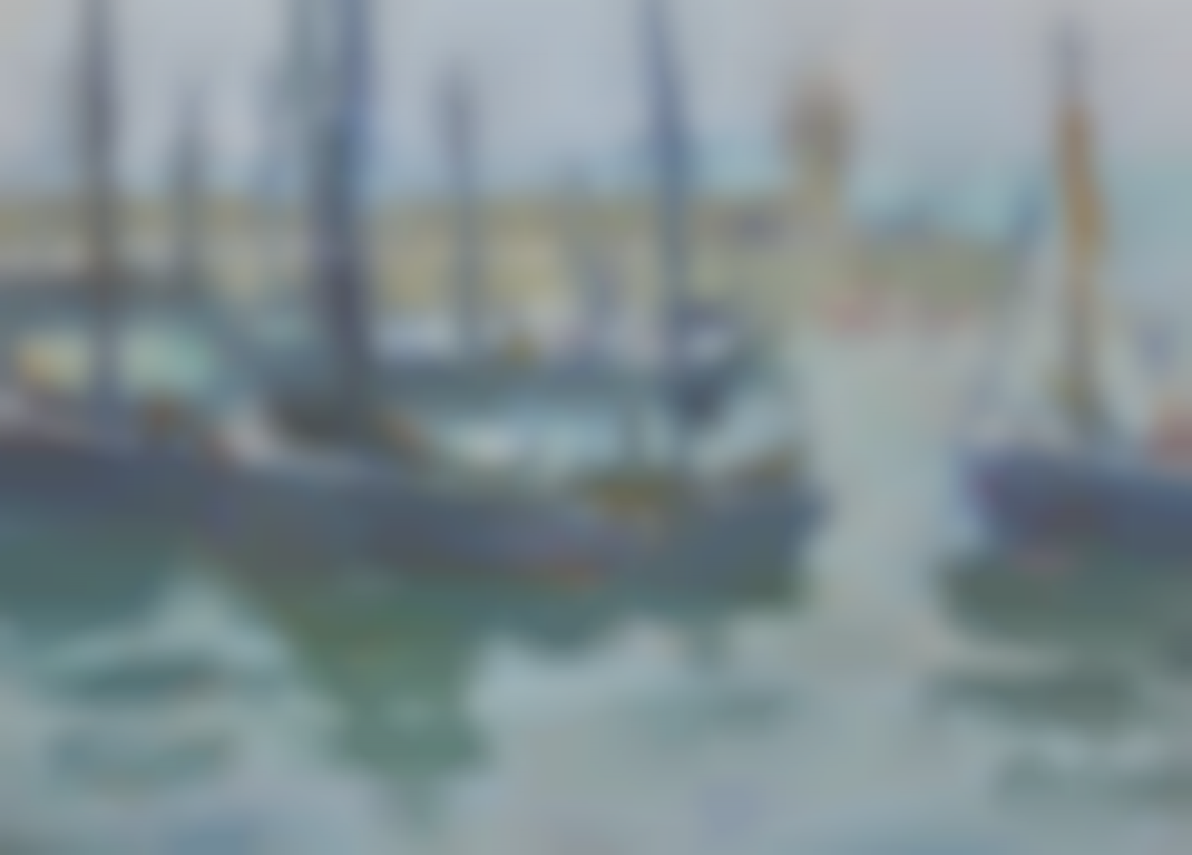 Marcella Smith - Boats In The Harbour St Ives; Old Buildings In St Ives, Cornwall-