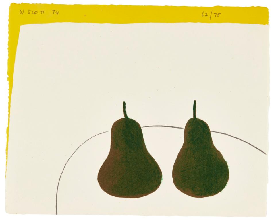 William Scott-Dark Pears-1974