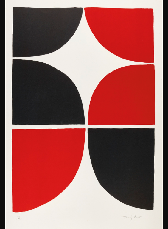 Sir Terry Frost - Red & Black Solid II-1967