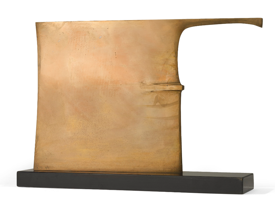 Robert Adams-Slim Bronze/Hatchet Form-1971