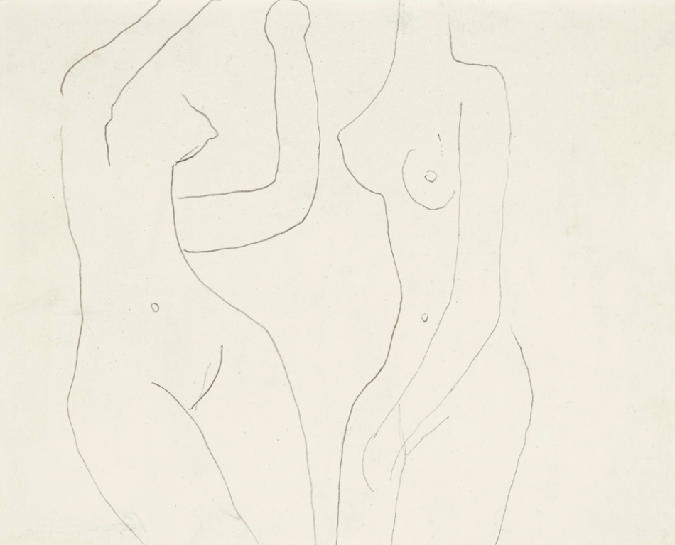 Roger Hilton-Two Figures-