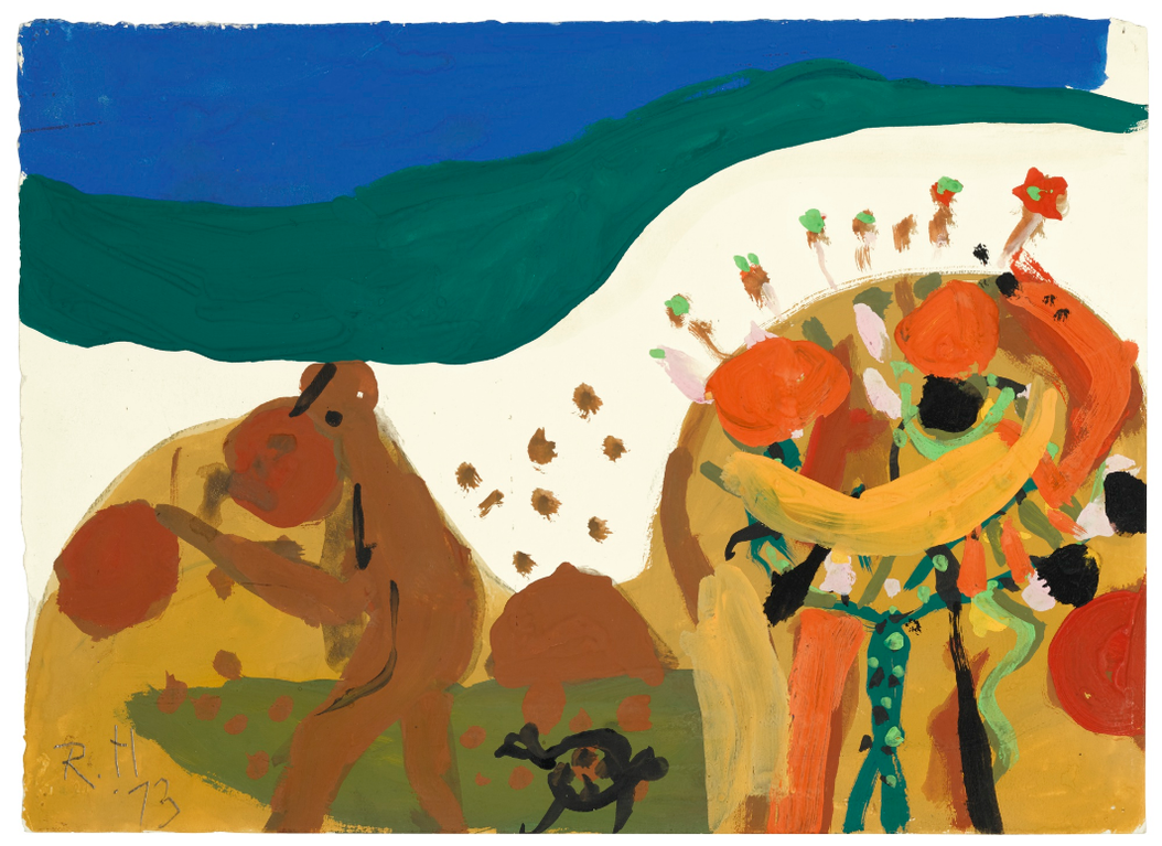 Roger Hilton-Figure In A Landscape-1973